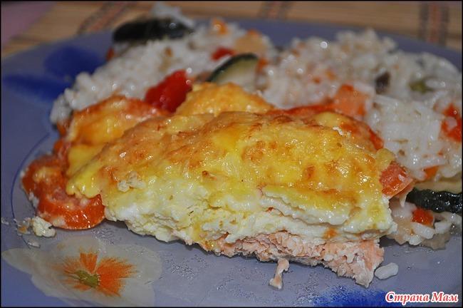 Детский омлет с рыбой рецепт