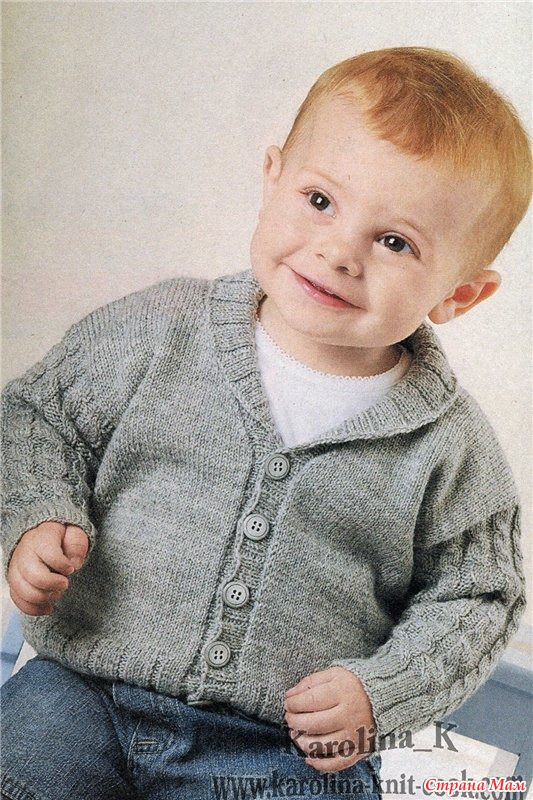 Модели вязания для мальчиков до года