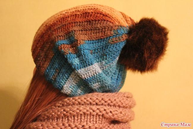 Вязание на спицах молодежных шапочек