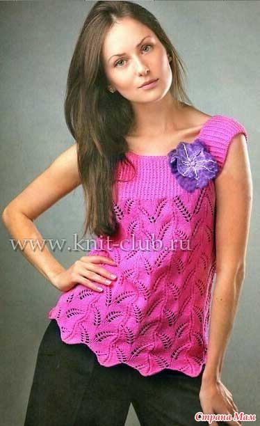 для вязания женской кофточки
