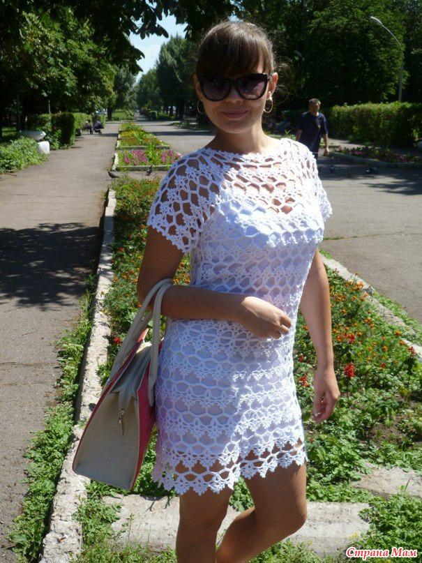 Летнее платье крючком на стране мама
