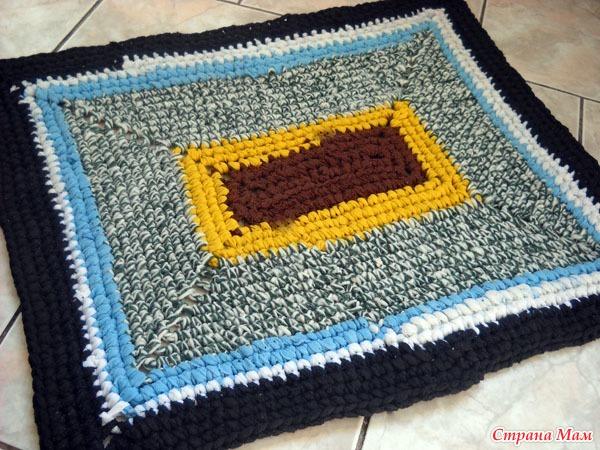 Поделки из пряжи коврик