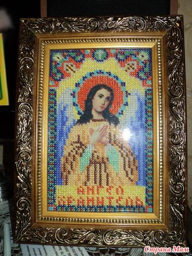Икона Ангел-Хранитель бисером