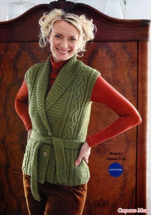 Вязания спицами жилетку для женщины