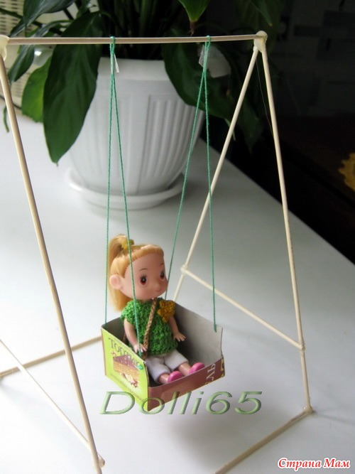 Как сделать гамак для куклы своими руками 741