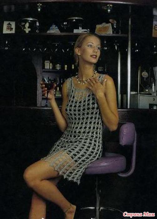 Как сшить подклад для вязаного платья крючком