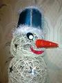 Снеговик из ниток своими руками - пошаговое фото - как сделать