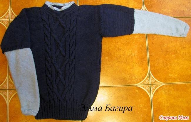 Вязание спицами пуловер для мальчика 2 лет