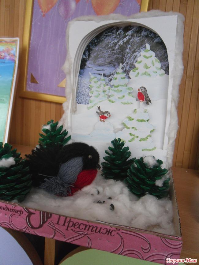 Поделка в детский сад на тему зима своими руками фото