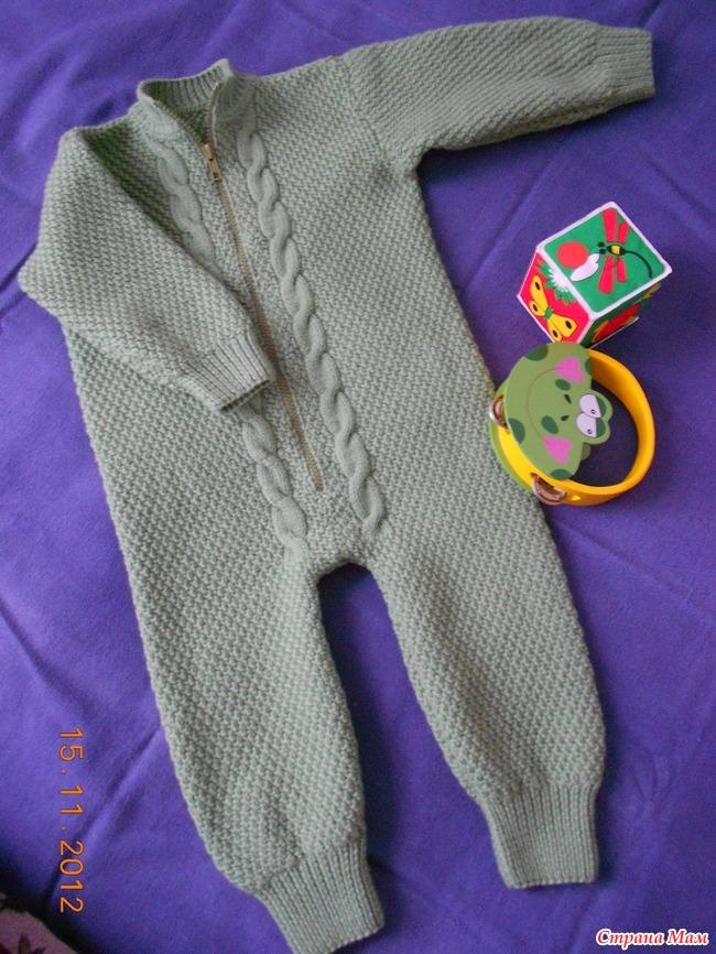 Вязание на малышей комбинезон 835