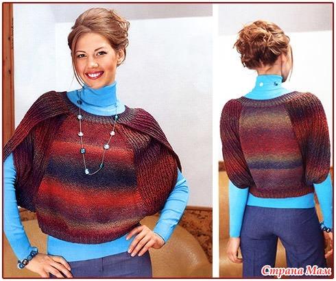 Необычные рукава вязание