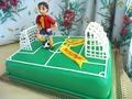 Футбольные ворота на торт из мастики