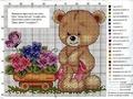 Вышивка крестиком - три медвежонка Вышивка крестом - бесплатные. образцы вязания на спицах со схемами.