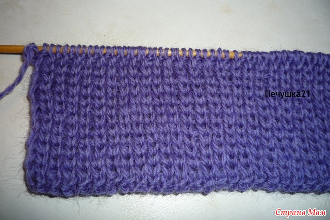 Вязание резинки спицами которая не растягивается