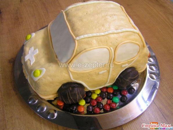 Торт машинка без мастики