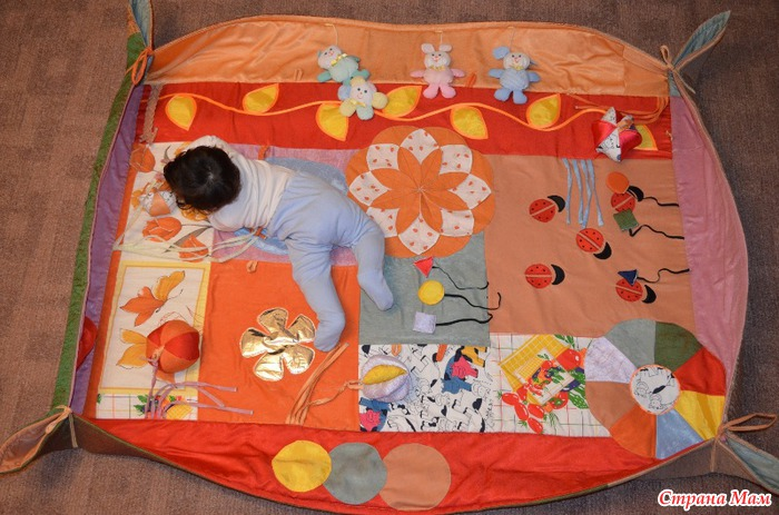 Развивающий коврик своими руками (шитье, мастер-класс)