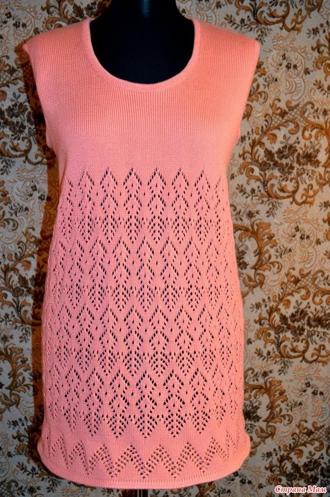 Вязание платья туники на машине