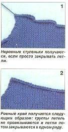 ХИТРОСТИ ВЯЗАНИЯ, Вязание плечевых скосов без ступенек
