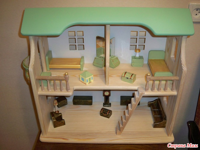 Кукольный домик своими руками и мебель к нему.
