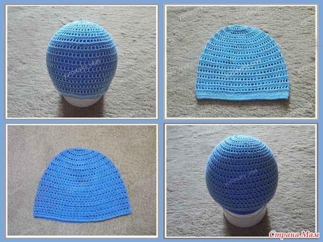 Вязание крючком шапка пошагово с фото