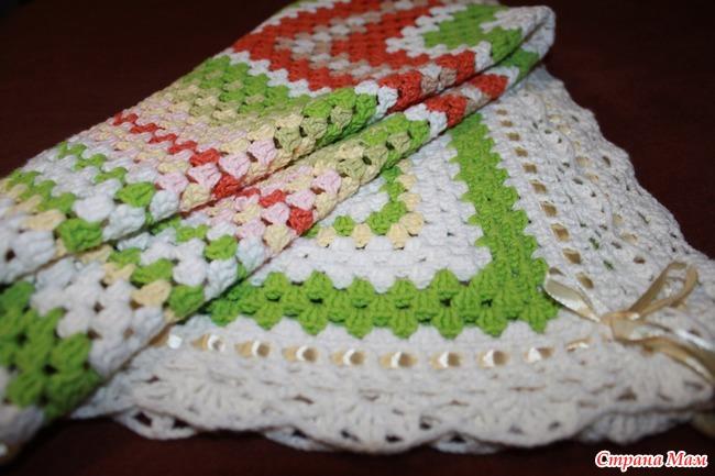 Вязание крючком пледа и подушки 88