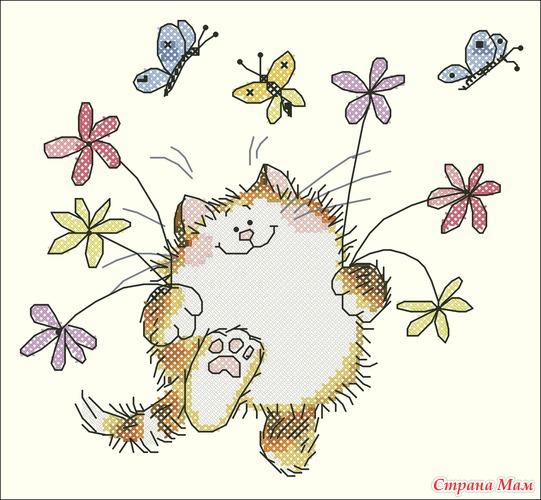 Кот с цветами (Маргарет Шерри)