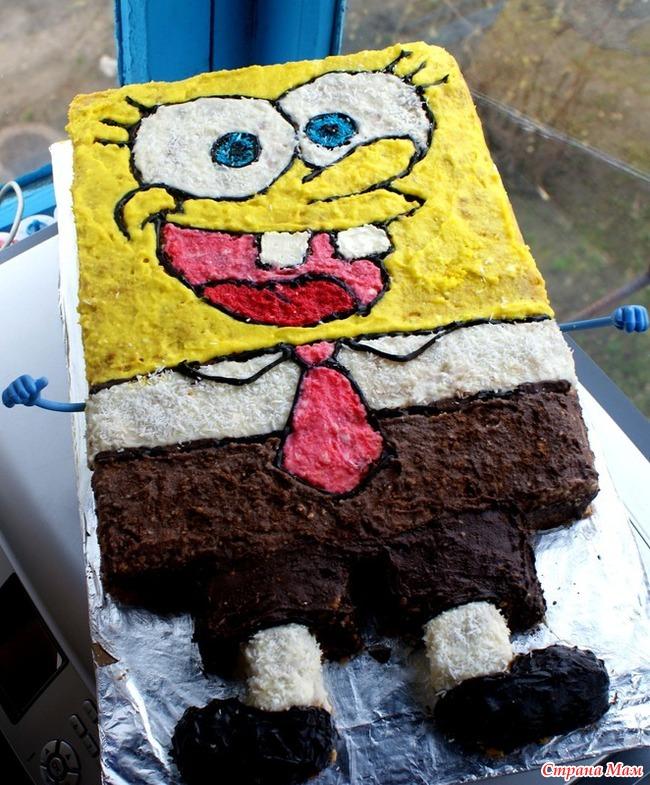 Торт губка боб рецепт с фото