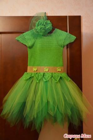 Вязание крючком платья костюм