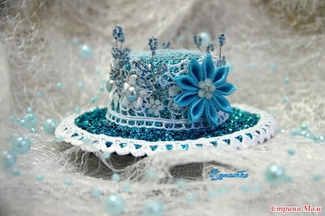 Шляпка для снежинки своими руками