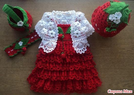 Как вязать крючком детское платье