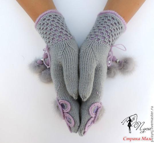 Вязание варежек с пальцем клином 111