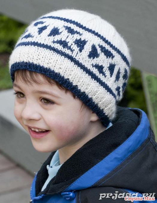 видео уроки по вязанию шапок для мальчиков