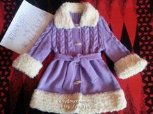 Детское вязаное пальто «Снегурочка»