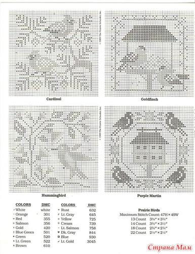 Схемы для вышивки примитивов