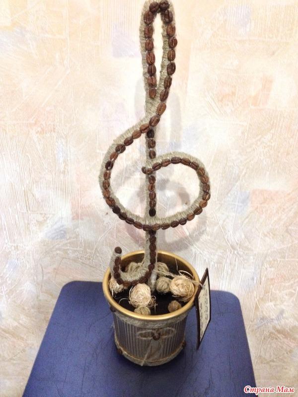 Топиарий скрипичный ключ