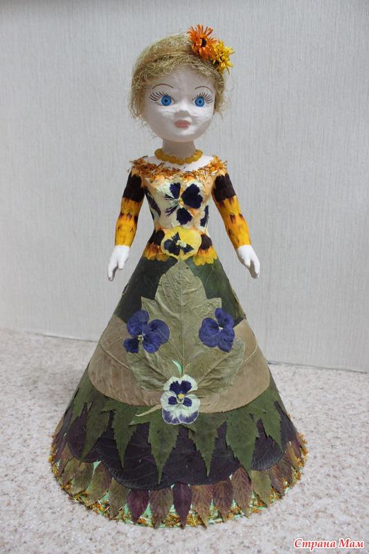 Кукла поделка в школу