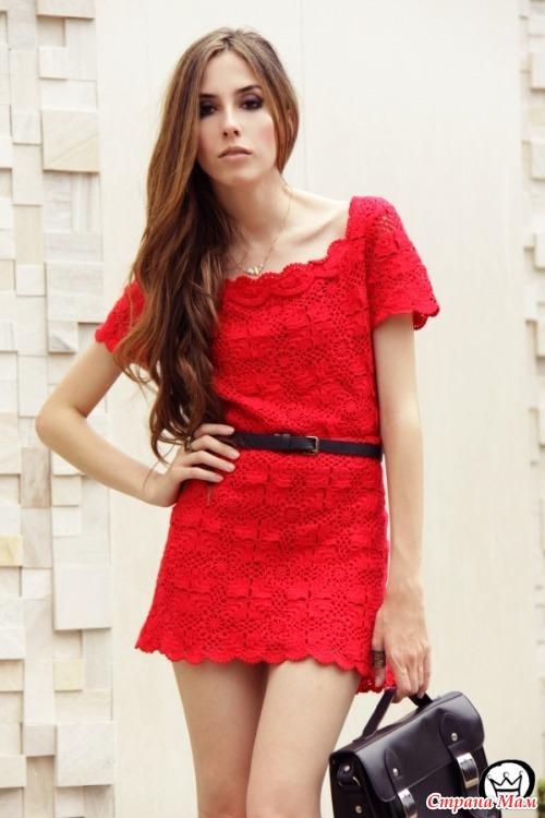 *Красное мини - платье - Все в