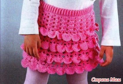 Описание вязания юбочки