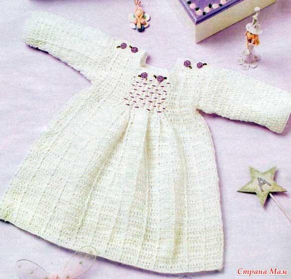 Схема вязания платья находится