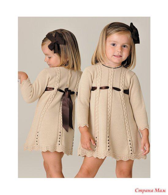 Вязание красивые платья для детей