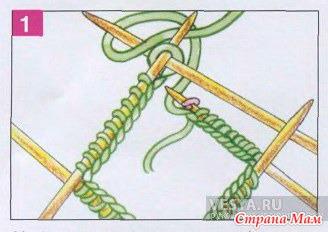 Замыкать вязание в круг