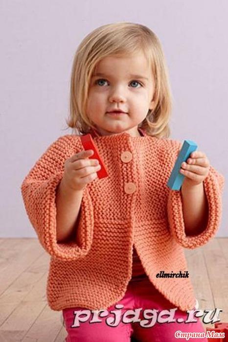 Вязание для начинающих кофточка для девочки