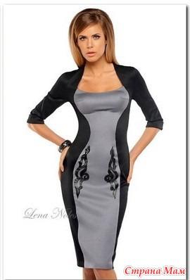 Платье из трикотажа моделирование