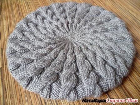 Вязание спицы берет косы