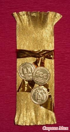 Как упаковать монеты в подарок 63