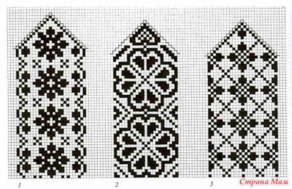 варежки с орнаментом