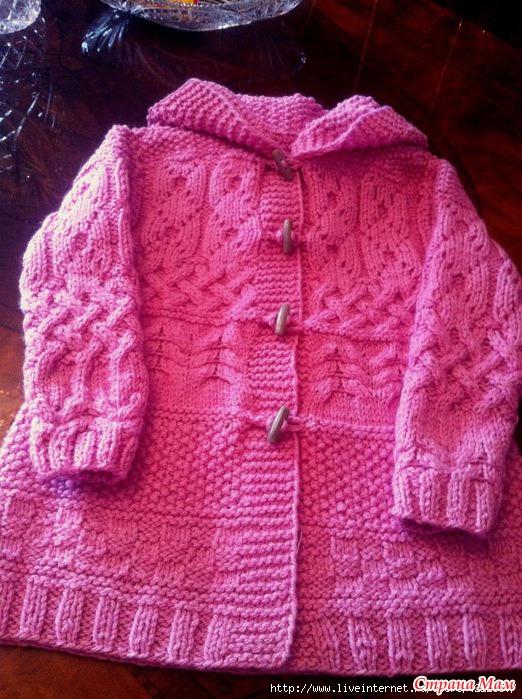 Вязание спицами детских пальто спицами