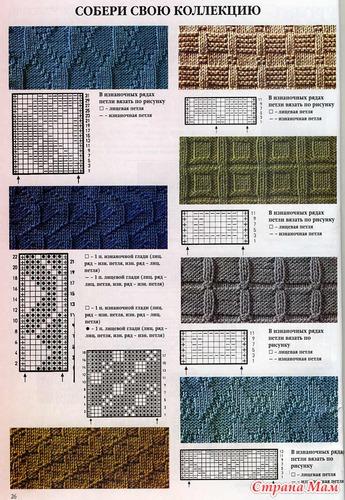 Образец вязания для мужского шарфа