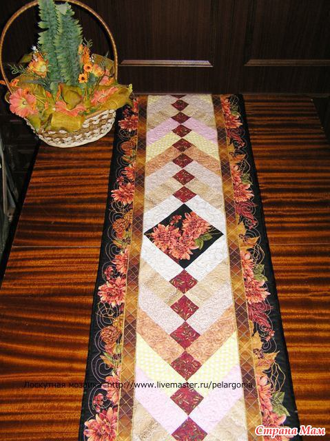 Дорожка из ткани на стол своими руками 70
