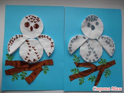 Поделки для детского сада из ватных дисков своими руками